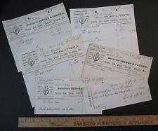 RARE Billhead LOT of 6 - Osgood Porter  Lubricating Sperm Oil Rochester NY 1888