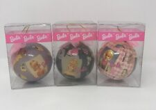 1996 Barbie Ball Ornament Set Of 3