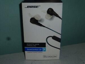 Bose QC20 Quiet Comfort 20 Acoustic Noise Cancelling Headphones Clip For Apple