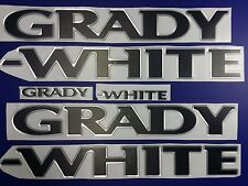 "Grady-White boat Emblem 40"" CHROME BLACK Epoxy Stickers Resist to mech shock"