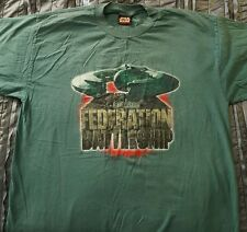 Star Wars Episode I The Phantom Menace Federation Battleship T-Shirt Size Xl