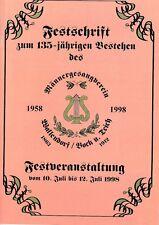 Cronología/Commemorative al 135 aniversario männergesangvereins Wallendorf