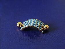 Brustwarzenpiercing, Edelkristalle, Schild, 24 Karat vergoldet, Nipple, Gold