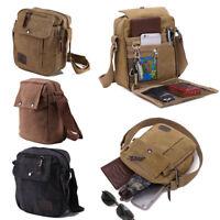 Men's Military Messenger Bag Satchel Hiking Vintage Handbag Canvas Shoulder Bag