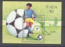 Laos Fussball  Fußball Italia 1990 Block  postfrisch  **