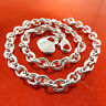 Necklace Pendant Chain Genuine Real 925 Sterling Silver S/F Heart Charm Design