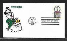USA, 1981, HAND PAINTED SAVINGS&LOANS RICHARD ELLIS, ANIMATED FIRST DAY COVER
