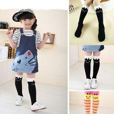 Baby Girls Denim Jeans Overalls Dress Braces Skirt Summer Clothes + Knee Socks