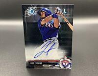Jose Trevino Auto 2017 1st Bowman Chrome CPA-JT RC Texas Rangers MLB