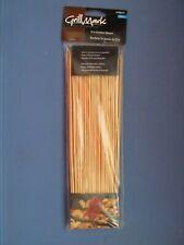 Grillmark Wooden skewers Sticks BBQ Shish Kabob Fondue 100 Pcs. #11060A  NEW