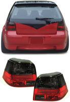 Klarglas Celis Rückleuchten rot schwarz für VW Golf 4 97-03