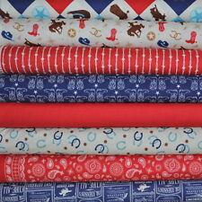Cowboy 8 Fabric Fat Quarters by Samantha Walker for Riley Blake, 2 yards total
