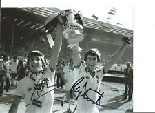 GEOFF PIKE AND RAY STEWART 10X8 SIGNED B/W  PHOTO PICTURED CELEBRATING  JM245