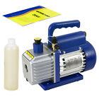 3.5CFM Rotary Vane Deep Vacuum Pump 1/4HP AC Air Tool R410a R134 HVAC Refrigeran