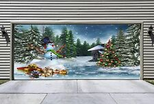 UNIQUE Christmas Garage Door Covers 3d Effect Banners Outdoor Holiday Decor GD30