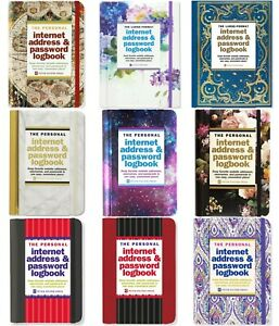 The Personal Internet Address Book & Password Logbook  Personal, Pocket or Large
