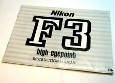 Nikon F3 HP High Eyepoint  camera Manual Instruction Guide English EN