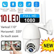 Wireless 1080P WIFI IP CCTV Camera PTZ Outdoor HD Home Security IR Night Vision