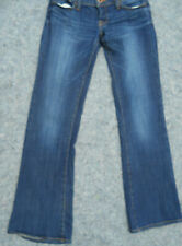 Lucky Brand Women Lil Maggie jeans size 2 dark wash faded button fly stretch