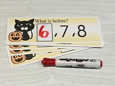 Black Cat  - Numbers - Laminated Activity Set - Teaching Supplies
