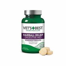 Vet 'S Mejor Gato Pelo Alivio Digestivo Ayuda, 60 Masticable Tabletas, Clásico