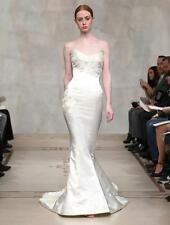 AUTHENTIC Reem Acra Violet 4214 Ivory NEW Wedding Dress 4 RETURN POLICY