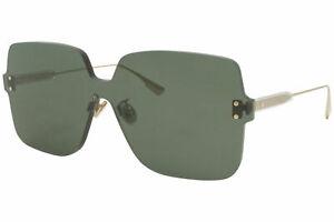 Christian Dior ColorQuake1 1EDQT Sunglasses Women's Gold/Green Lens Shield 99mm