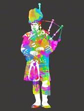 Piper Scotland Bagpipes Picture Art Canvas Print