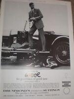 Drummonds Freedom Suitings wool suits advert 1964 ref AY