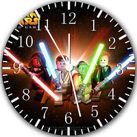 "Lego Starwars wall Clock 10"" will be nice Gift and Room wall Decor X28"