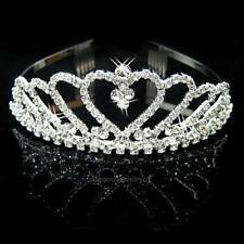 Elegant Bridal Rhinestone Crystal Crown Headband Veil Tiara Wedding Party Prom