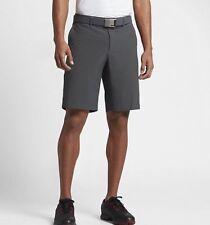 NIKE Golf Men's Flat Front Stretch Woven Size 38 Dark Grey Black 833224-021