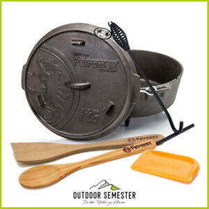 PETROMAX Dutch Oven Feuertopf Profi Set #2 Deckelheber Schaber Löffel Spatel