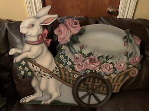 Boardwalk Originals Bonnie Barrett, Hand Painted Signed Rabbit Bunny Easter 2005