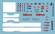 Gofer 12001  Butch Leal Dart Decal Sheet 1/24 and 1/25