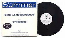 "DONNA SUMMER State Of Independence LP GEFFEN RECORDS 12"" US 1982 PROMO NM"