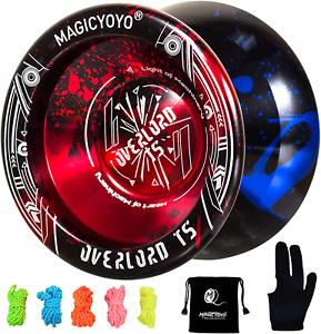 MAGICYOYO Professional Unresponsive Yoyo T5 Overlord, Pro Metal Yoyo Aluminum Al