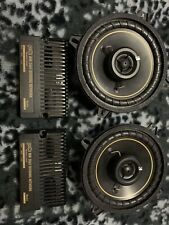 New listing Kicker 4 Ohm 5.25 Door Speakers With Polk Audio Crossovers