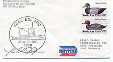 Noaa Ship Mc Arthur S330 NOS PMC Seattle Polar Antarctic Cover SIGNED