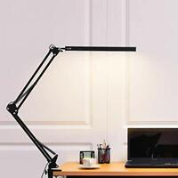 LED Desk Lamp Aceshop Dimmable Daylight Desk Lamp Metal Clamp-on Crafts Swing
