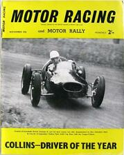 MOTOR RACING Magazine Nov 1956 - Peter Collins, Porsche Carrera, Triumph,