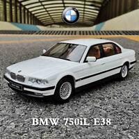 OTTO 1:18 Scale BMW 7 Series 750iL E38 White Car Model Collection Limited 500PCS