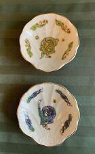 Royal Tara Book of Kells Bone China Scalloped Oyster Plates (2) Ireland