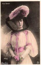 BE727 Carte Photo vintage card RPPC Femme woman Alix Emond mode fashion chapeau