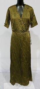Whimsy + Row Women's Lola Wrap Dress CD4 Hunter Green Large