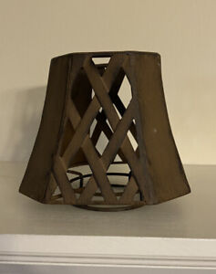 Home Interiors brown metal candle shade/topper