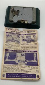 Vintage MANSFIELD'S MOVIE EDITORS 8 & 16 MM Film AUTO-SPLICER