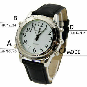 ENGLISH Talking Speaking Quality Watch Blind Visually Impaired 10 FREE BATTERY