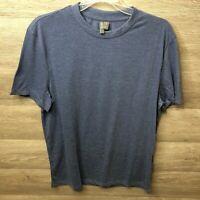 Asos Mens Medium Heather Blue Basic Scoop Neck Short Sleeve T Shirt NEW