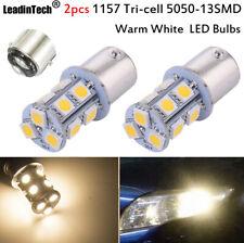 2pcs 1157 LED Bulbs Bay15d 5050 Warm White Corner Tail Running 12V LED Lights